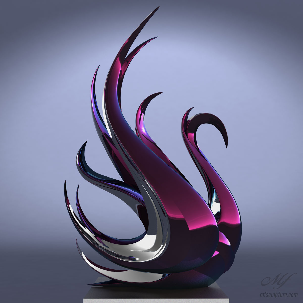 Swan Contemporary Modern Interior Design Sculpture